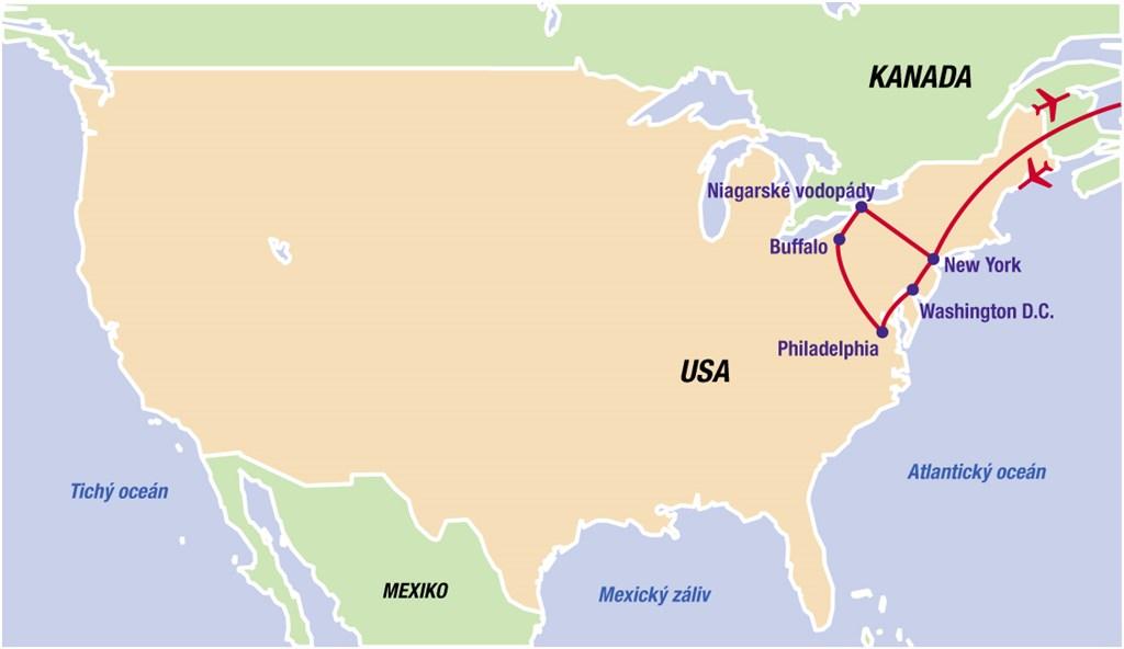 Města východu USA - magnety východního pobřeží