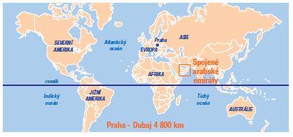 karta sveta dubai Spojené arabské emiráty karta sveta dubai