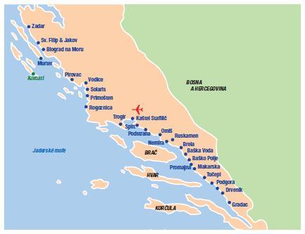 Chorvatsko Dalmatska Riviera
